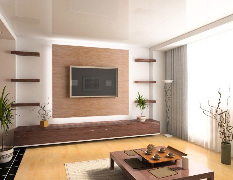 пострадавшую дизайн стены с телевизором в гостиной фото был